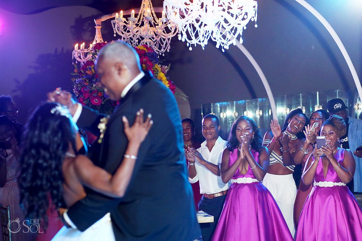 Grand Velas Wedding reception dance