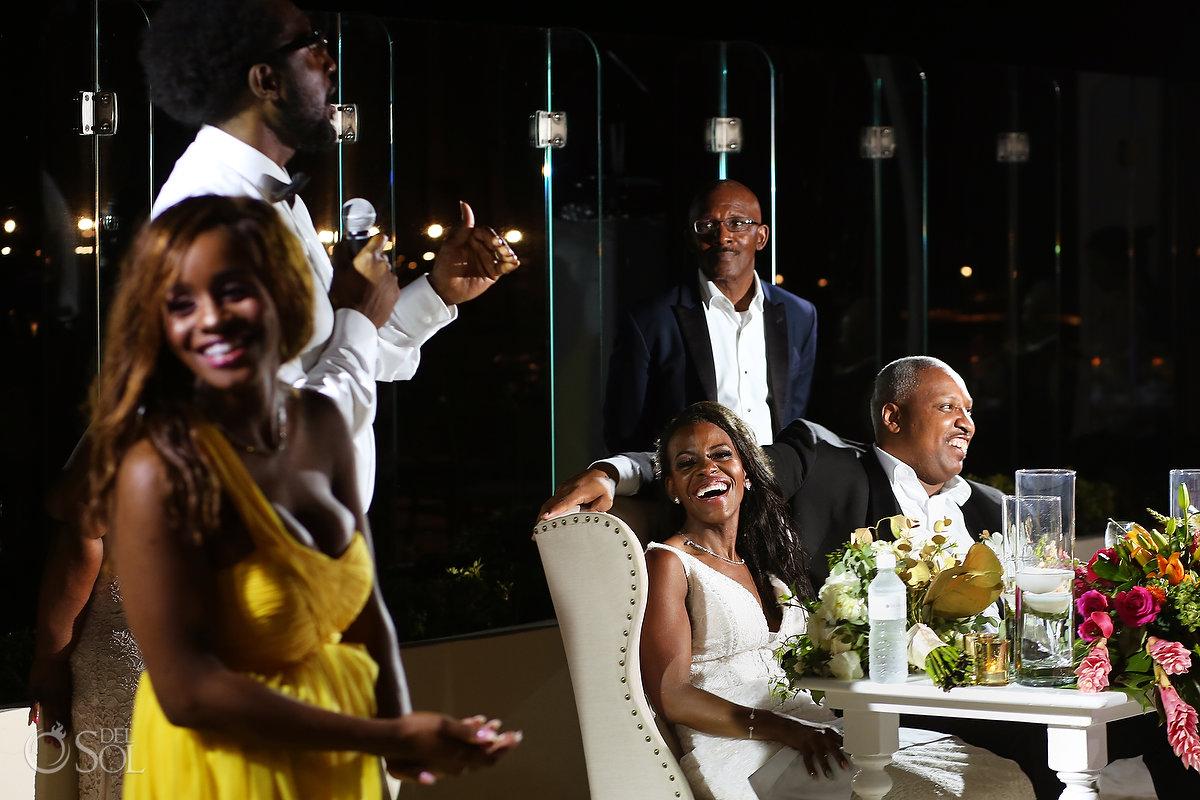 Grand Velas Wedding reception entertainment