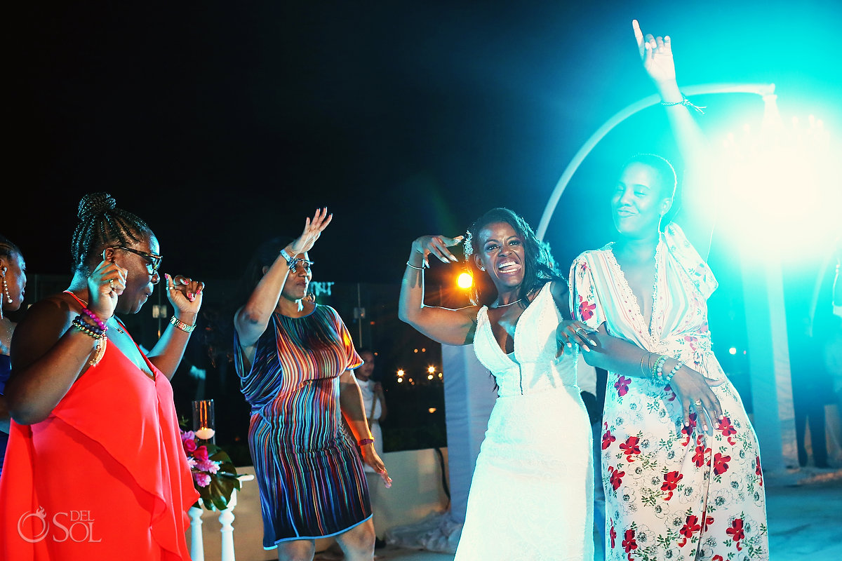 Grand Velas Wedding reception fun dancing