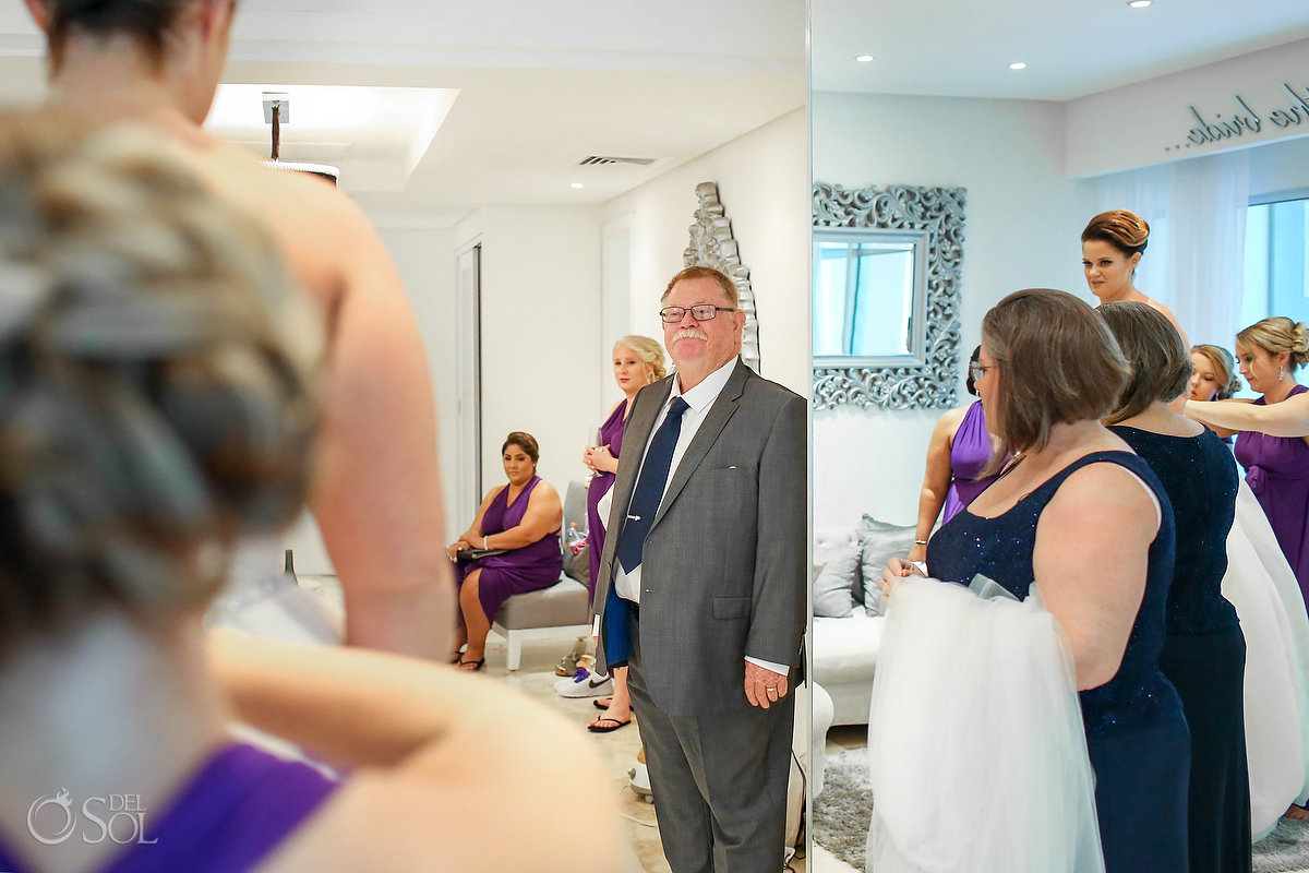 FOB first look Paradisus bridal suite getting ready Playa del Carmen Wedding