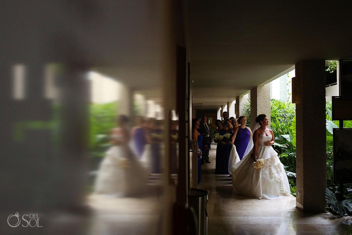 Playa del Carmen wedding Paradisus outside bridal suite