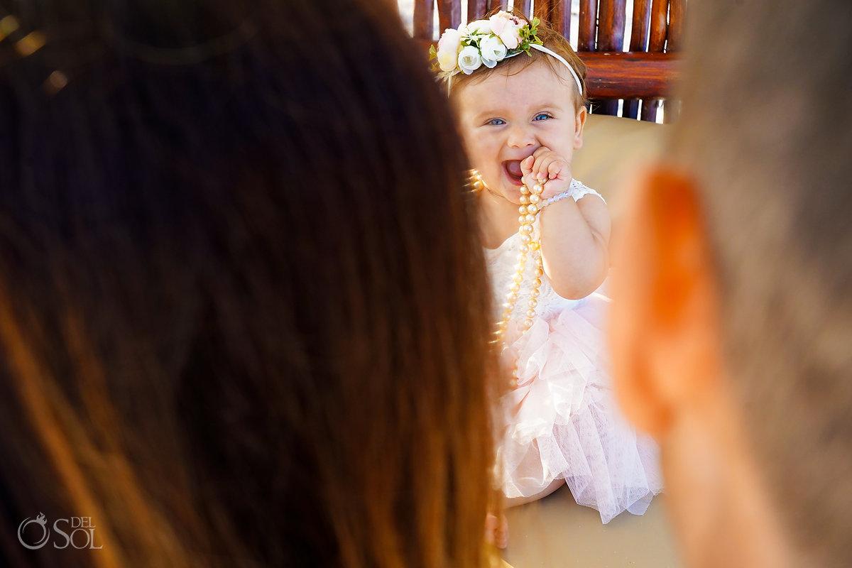 infant photo in tulum mexico boho baby