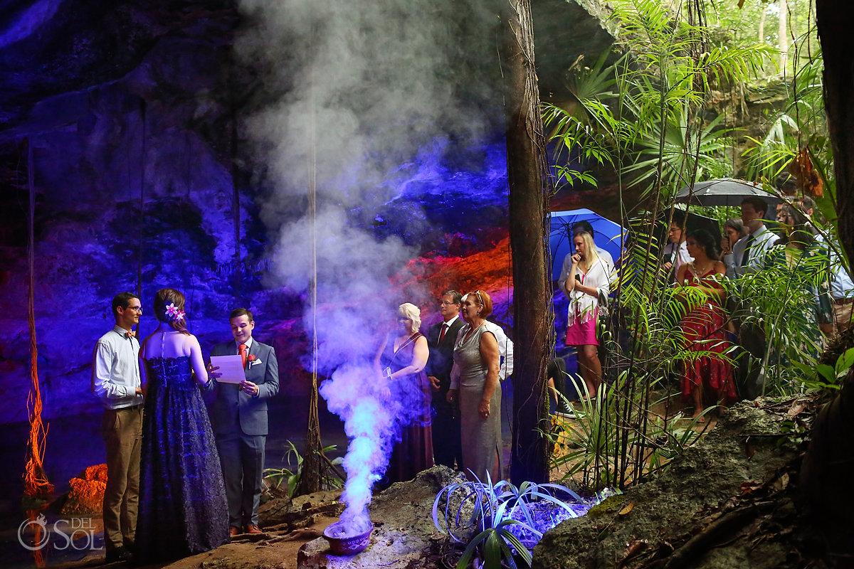 mexico cave wedding ceremony Playa del Carmen cenote Dream Weddings Riviera Maya