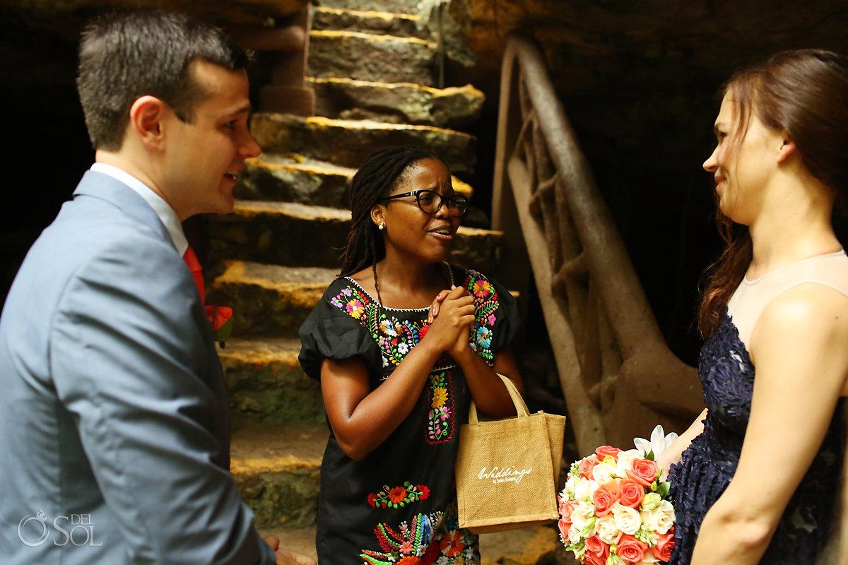 Mexico cave wedding coordinator Joyce Mnguni Dream Weddings Riviera Maya
