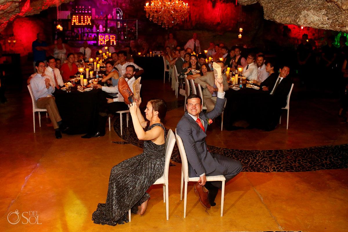 the shoe game mexico cave wedding reception Alux restaurant Playa del Carmen