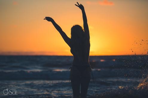 Sunrise Belomnd Maroma Playa del Carmen Lifestyle Photography Session Allison Dunbar bikini model