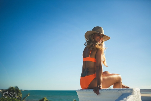 Orange Bikini Session Playa del Carmen Lifestyle Photography