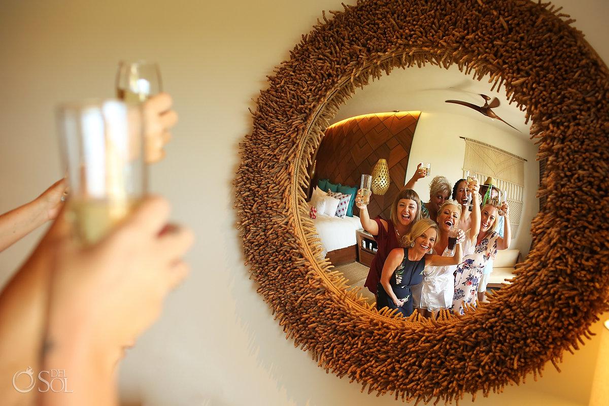 creative wedding photo getting ready Secrets Maroma Beach Riviera Cancun Playa del Carmen