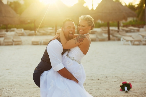 golden hour couples portrait session destination wedding Secrets Maroma Beach Riviera Cancun Playa del Carmen