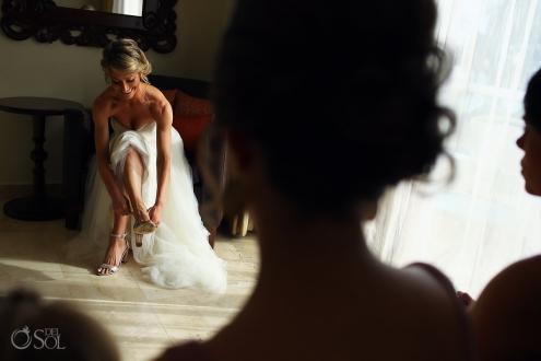 bride getting ready Dreams Tulum Spiritual Wedding