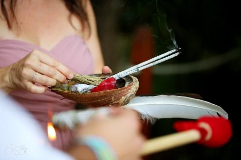 Dreams Tulum Spiritual Wedding incense sage smudging