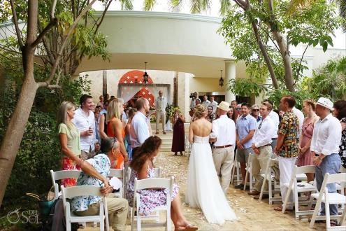bride entrance Dreams Tulum convention center