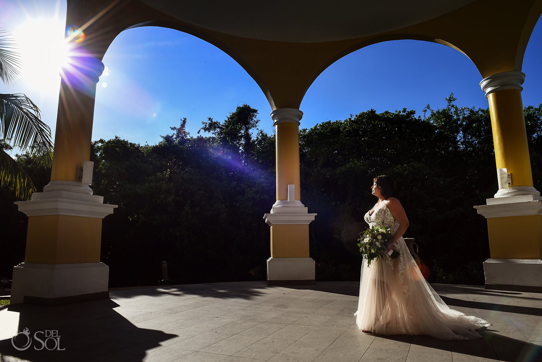 bride portrait Iberostar Grand Paraiso wedding