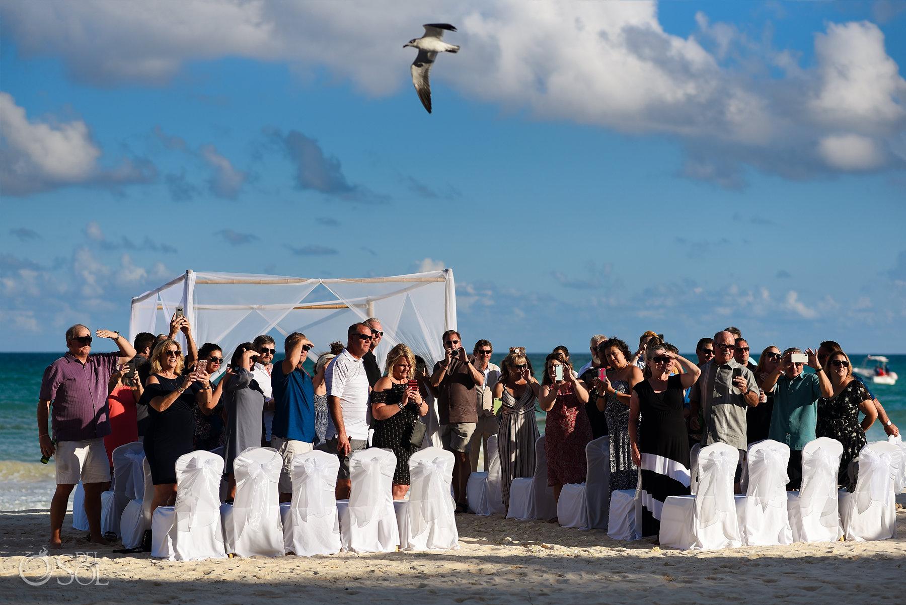Iberostar Grand Paraiso wedding ceremony friends and family waiting bride