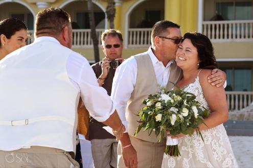 Iberostar Grand Paraiso wedding ceremony bride give away