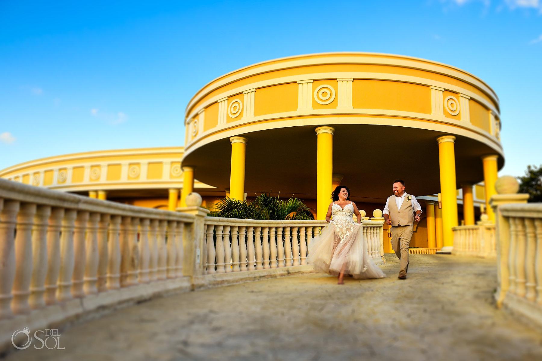 bride and groom Iberostar Grand Paraiso wedding venue portraits