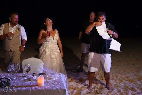 Iberostar Grand Paraiso wedding reception fun speeches