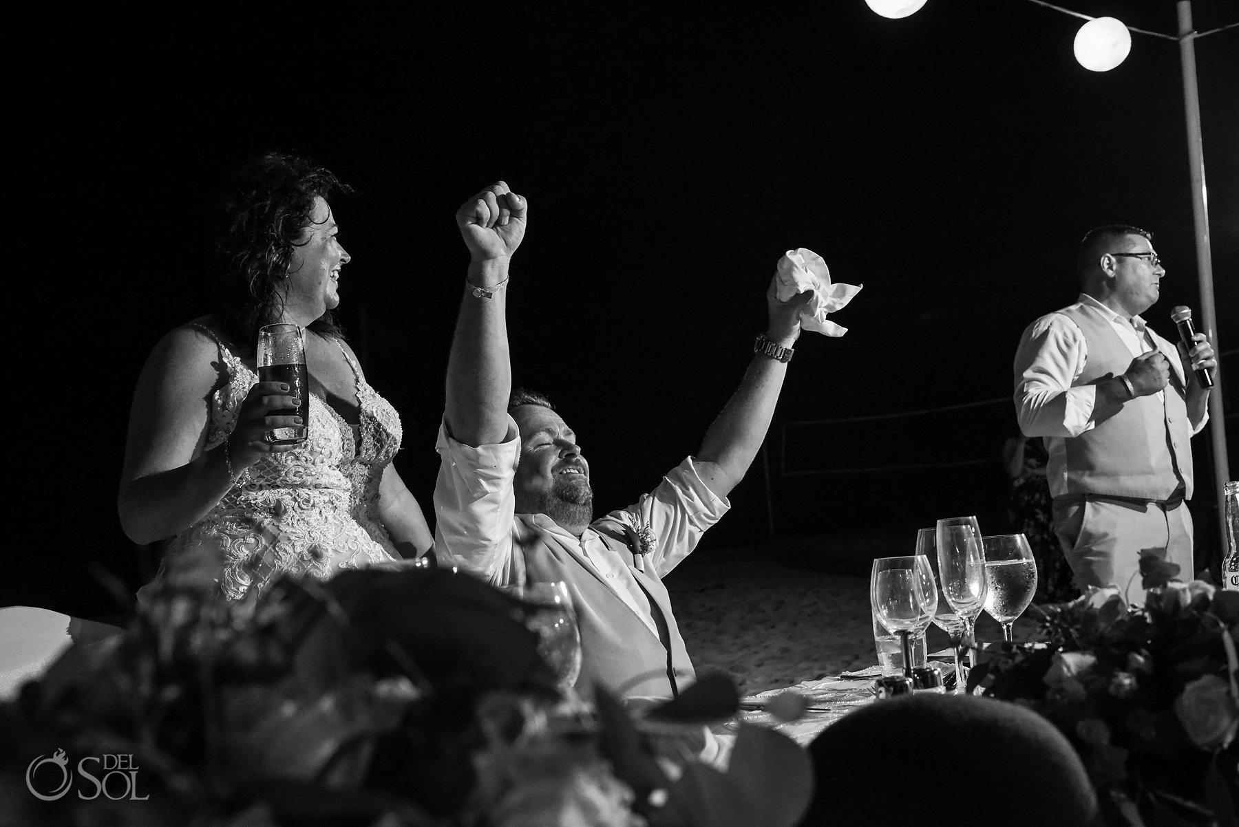 Iberostar Grand Paraiso wedding reception joyful moments