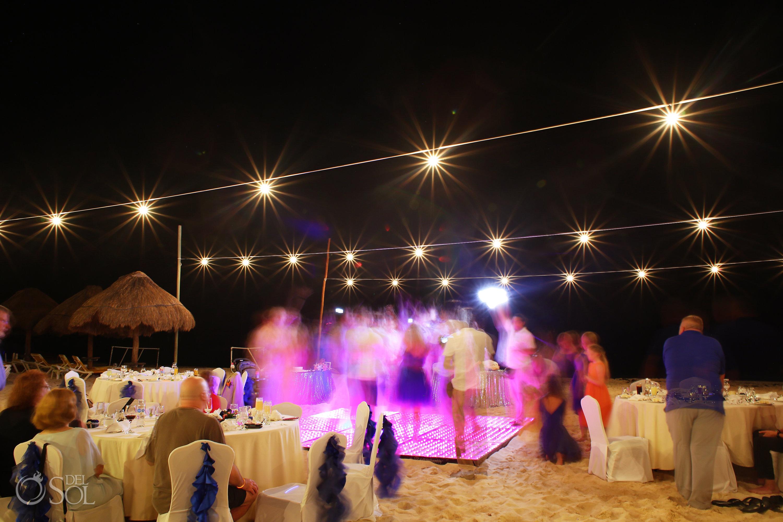 long exposure scene setter Iberostar Paraiso del Mar Wedding reception
