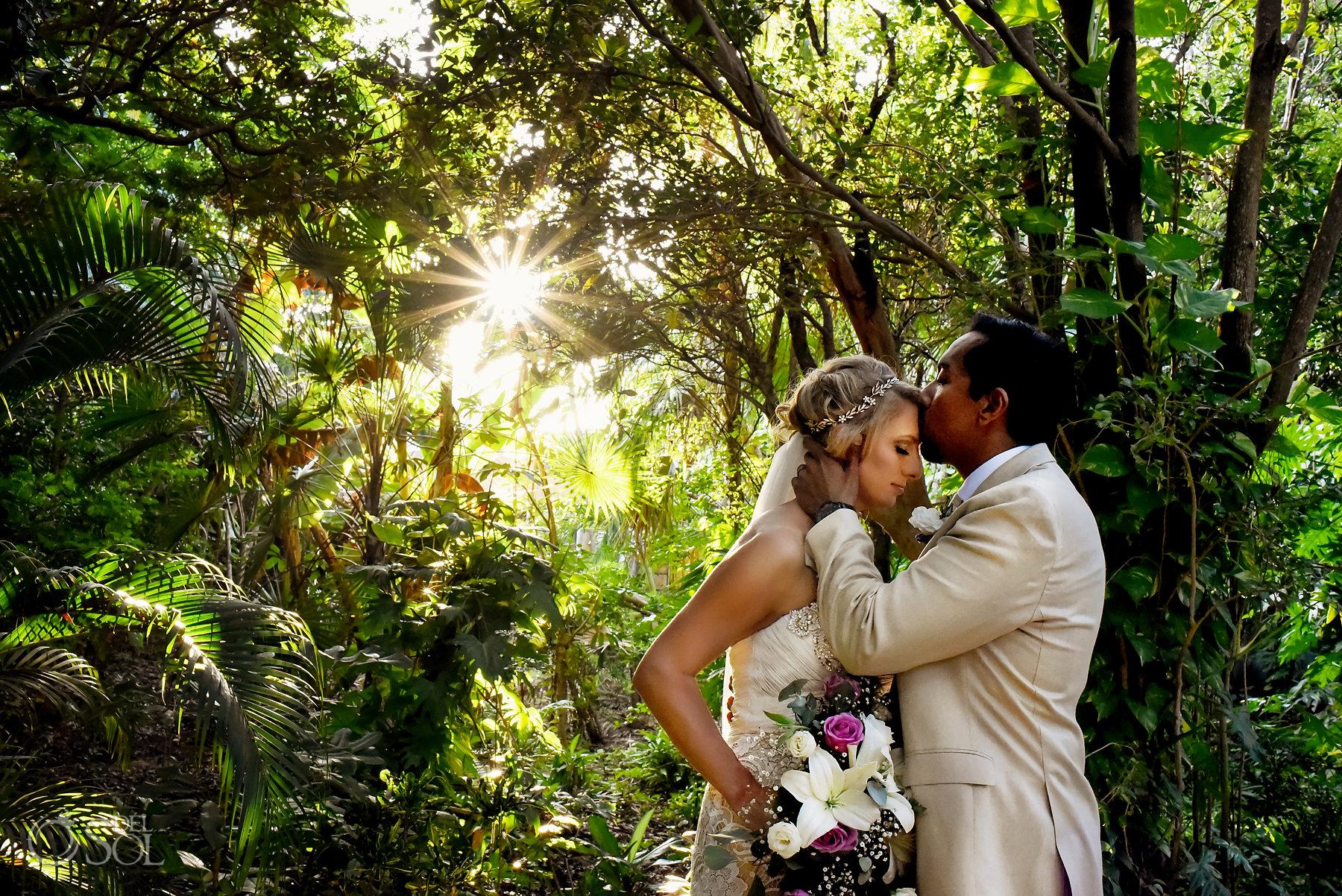 Dreams tulum sunset wedding portraits