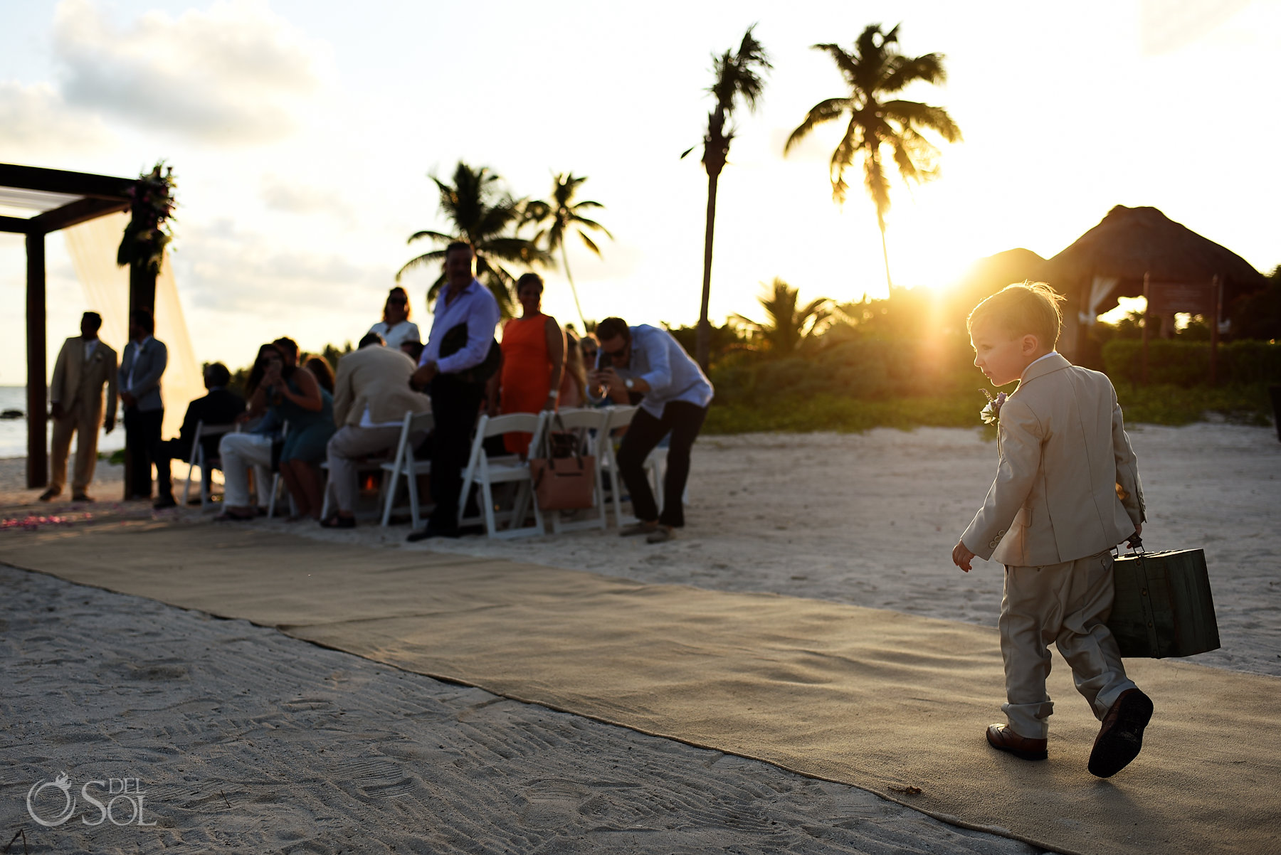 ring bearer idea ring security briefcase Dreams Tulum Sunset wedding