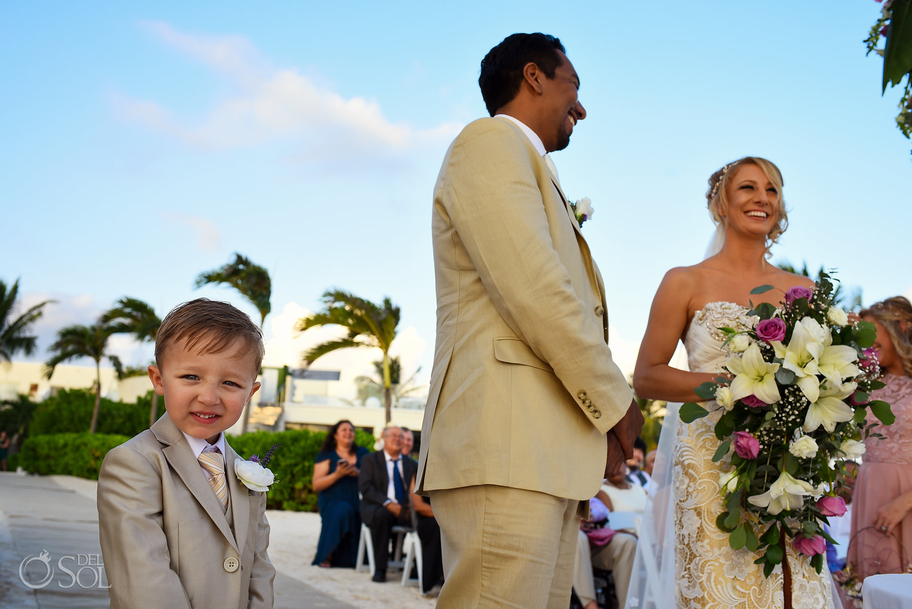 ringbearer Dreams Tulum Sunset Wedding