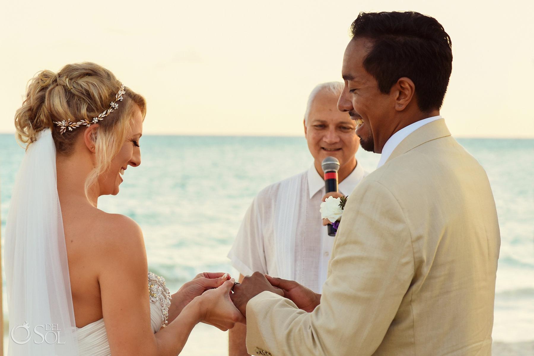 rin exchange Dreams Tulum Sunset Wedding