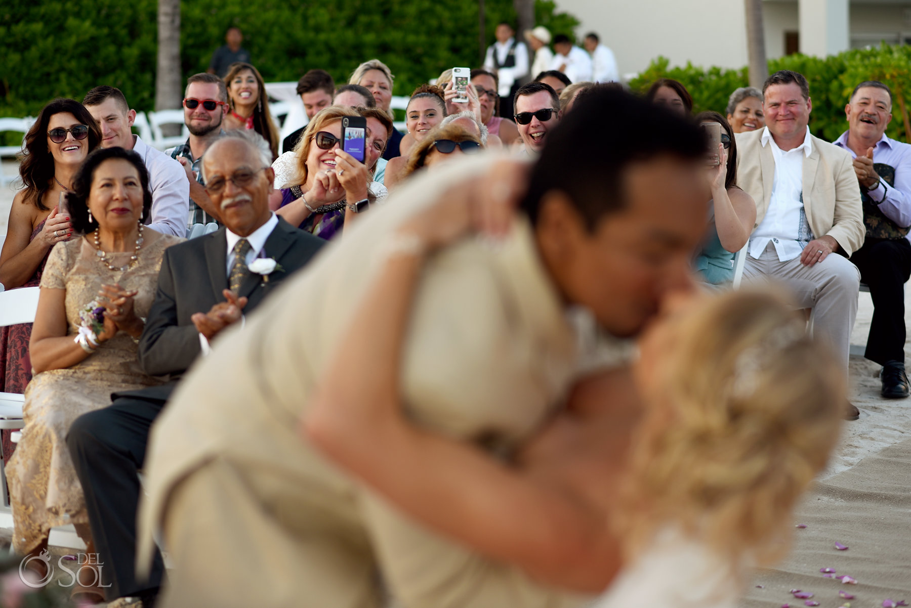 First Kiss Dreams Tulum Sunset Wedding