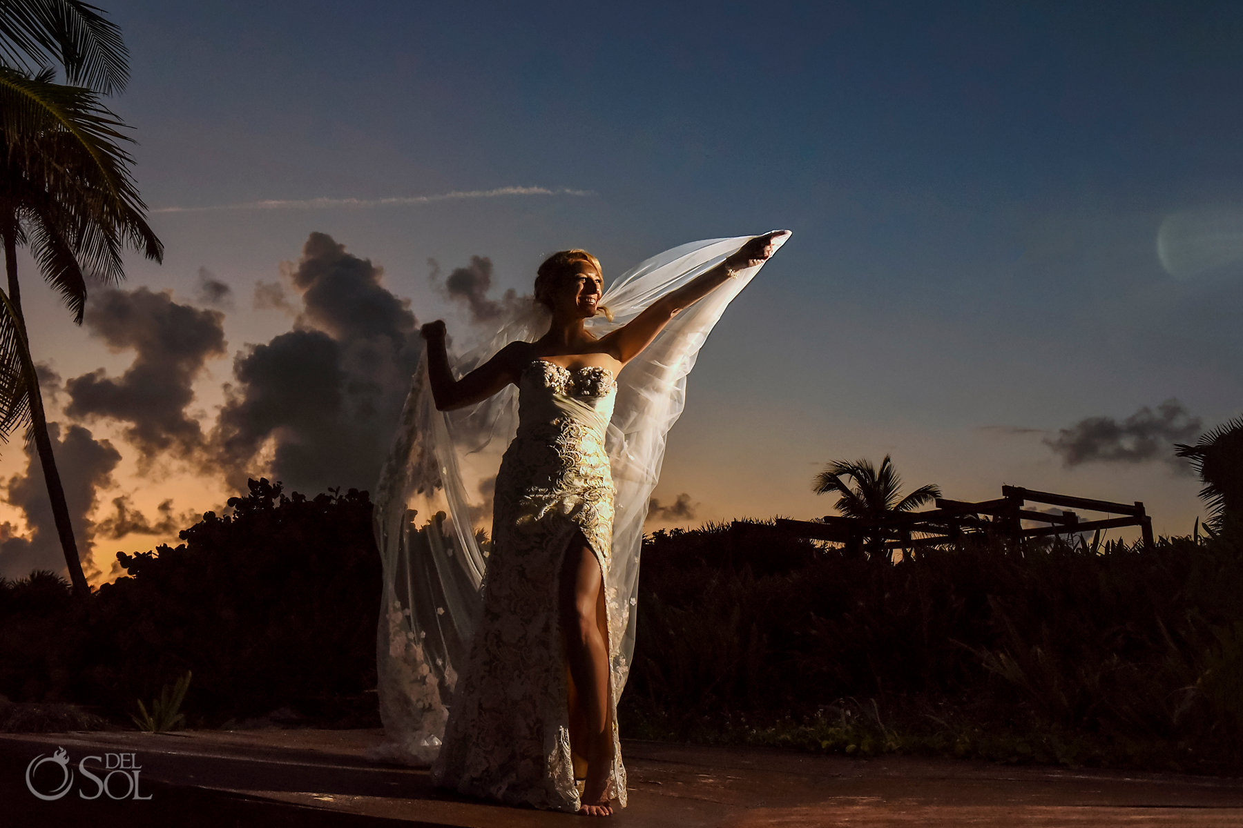 Dreams Tulum Sunset Wedding portrait