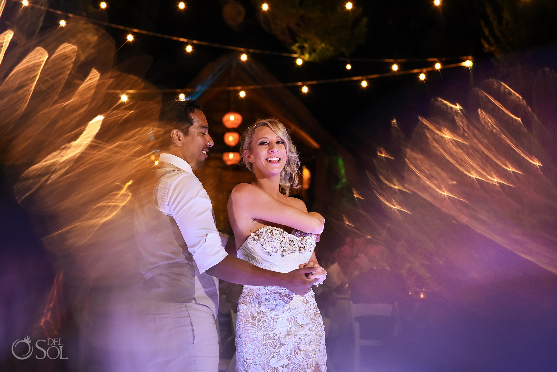 Dreams Tulum Secret Garden Wedding reception first dance