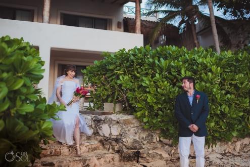 First Look Documentary Moment Akumal Sunrise Villa Elopement