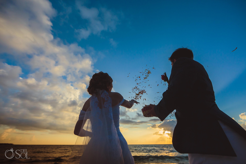 Mayan Ceremony Flower Petals Wedding Tradition Akumal Sunrise Villa Elopement