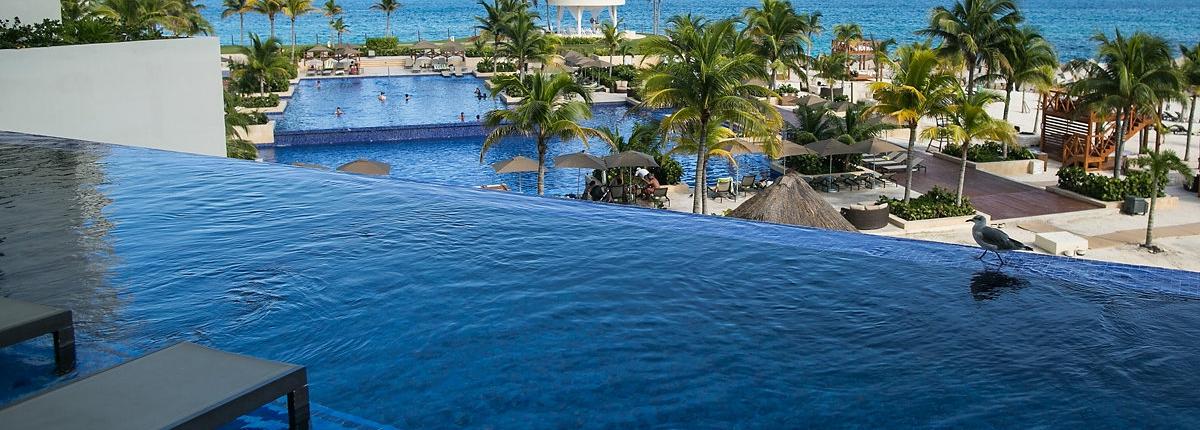 poolside Hyatt Ziva Cancun Mexico