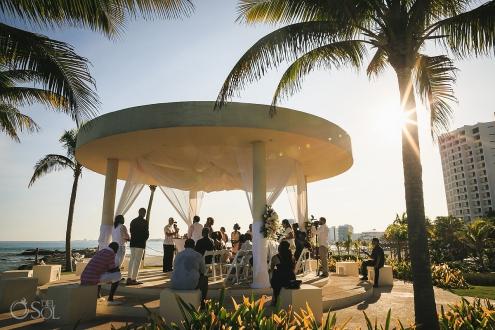 gazebo cliff wedding Hyatt Ziva Cancun