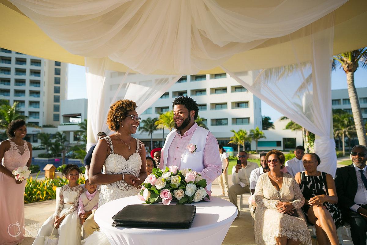 destination black wedding ceremony Hyatt Ziva Cancun