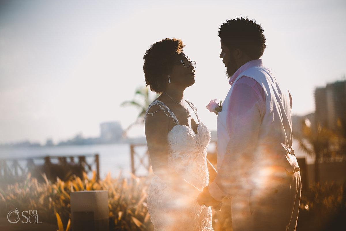 destination wedding bride and groom portrait