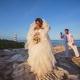 Cancun destination black wedding bride and groom portrait Hyatt Ziva