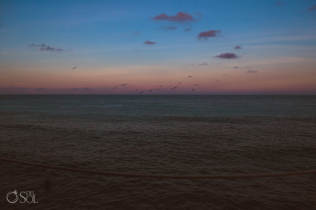 Cancun Mexico destination wedding beach sunset