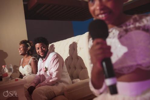 african american destination wedding reception