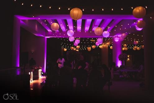 Hyatt Ziva Cancun destination wedding reception setup