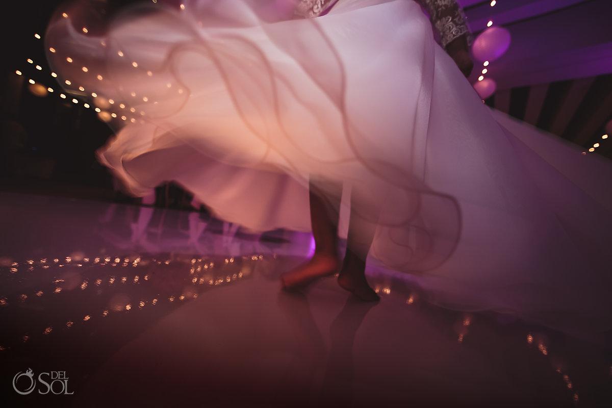 flowy dress wedding reception party Hyatt Ziva Cancun