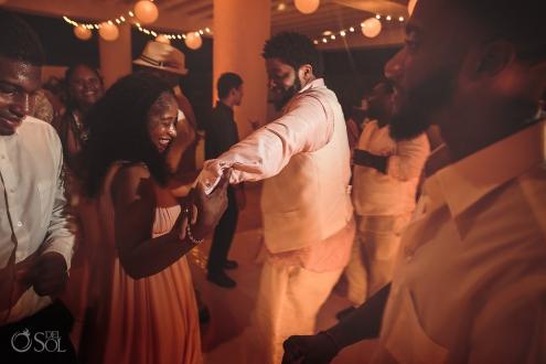 celebrating guests wedding reception Hyatt Ziva Cancun