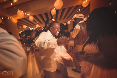 Sky terrace wedding reception Hyatt Ziva Cancun