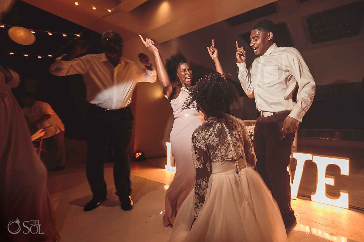 african american wedding reception Sky Terrace Hyatt Ziva Cancun