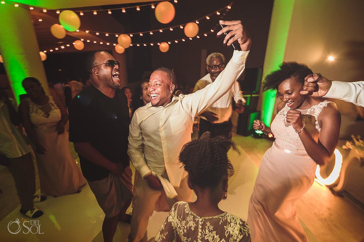 wedding party dancing cancun Hyatt Ziva