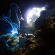 Maggie Sottero Trash the Dress underwater