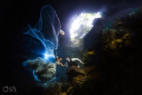 Maggie Sottero Trash the Dress underwater
