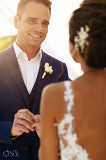 how to exchange rings during a wedding Indochino Ginger Groom Wear