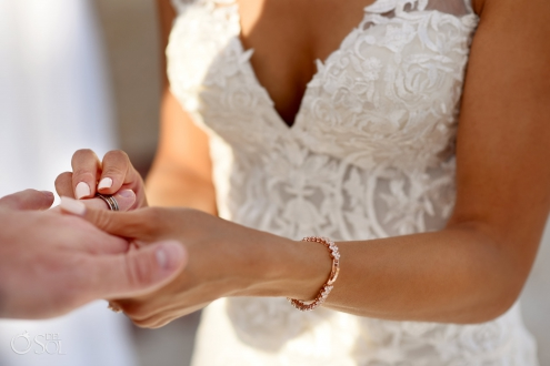 how to exchange rings during a wedding Estee couture bridal Embroidery dress mermaid cut low cut back