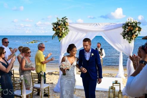 secrets silversands wedding on the beach